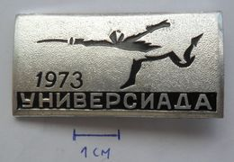 RUSSIA USSR , FENCING, UNIVERSIADA 1973  PINS BADGES PLAS - Fencing