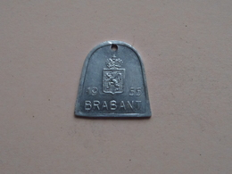 Belasting Op HONDEN BRABANT 1955 - 80604 / Belgique - België ( TOKEN For Dog / Chien TAX / For Detail, Zie Photo ) ! - Unclassified
