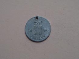 Belasting Op HONDEN BRABANT 1956 - 078260 / Belgique - België ( TOKEN For Dog / Chien TAX / For Detail, Zie Photo ) ! - Unclassified