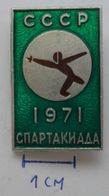 RUSSIA USSR , FENCING, SPARTAKIADA 1971  PINS BADGES PLAS - Fencing