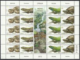 SRB 2012-461-4 FAUNA REPTILES, SERBIA, 1 X 4v + Label, MNH - Reptiles & Batraciens