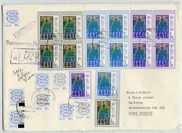 ESTONIA 1993 Registered Cover With Republic Anniversary Set X 5 And Arms Stamps.  Michel 200-02 X 5, 203-205 - Estonia