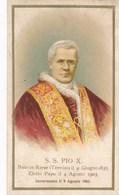 Image Religieuse  S. S. Pio X  Nato In Riese 1835 Eletto Papa 1903 Incoronato Il 9 Agosto 1903 ( Pape ) - Devotion Images