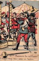Illustration Comique - 10emes - Le Coup - Militaire Militaria Soldats - Illustratoren & Fotografen