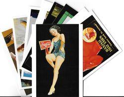 Publicité Lot N°7 De 10 Cartes-COCA-COLA ART Ou PUBLICITE Rétrospective 20/12/95-27/2/96 CARROUSEL Du LOUVRE *PRIX FIXE - Publicité