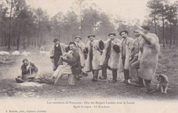 40 / LEU MOULENTE DE PASQUOUS - FETE DES BERGERS LANDAIS DANS LA LANDE - APRES LE REPAS - LE RONDEAU - France