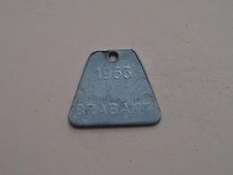 Belasting Op HONDEN BRABANT 1963 - 19662 / Belgique - België ( TOKEN For Dog / Chien TAX / For Detail, Zie Photo ) ! - Belgique