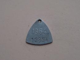 Belasting Op HONDEN BRABANT 1964 - 12854 / Belgique - België ( TOKEN For Dog / Chien TAX / For Detail, Zie Photo ) ! - Unclassified