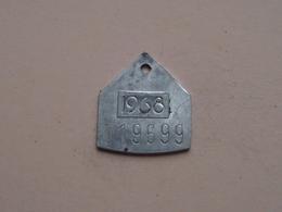 Belasting Op HONDEN BRABANT 1968 - 019699 / Belgique - België ( TOKEN For Dog / Chien TAX / For Detail, Zie Photo ) ! - Unclassified