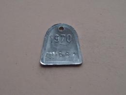 Belasting Op HONDEN BRABANT 1970 - 20661 / Belgique - België ( TOKEN For Dog / Chien TAX / For Detail, Zie Photo ) ! - Unclassified