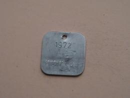 Belasting Op HONDEN BRABANT 1972 - 020134 / Belgique - België ( TOKEN For Dog / Chien TAX / For Detail, Zie Photo ) ! - Unclassified