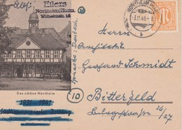ALLEMAGNE ZONE ANGLO AMERICAINE 1945 CARTE DE NORTHEIM - Bizone