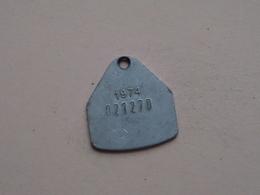 Belasting Op HONDEN BRABANT 1974 - 021270 / Belgique - België ( TOKEN For Dog / Chien TAX / For Detail, Zie Photo ) ! - Belgique