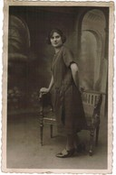 Portret Jonge Dame, Portrait, Fotokaart, Carte Photo, Omer Pille - Maes, Rue De Lille, Menin, Menen (pk41763) - Illustrateurs & Photographes
