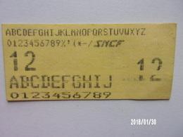 Ticket SNCF (maintenance ?) - Europa