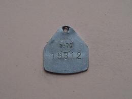 Belasting Op HONDEN BRABANT 1976 - 19312 / Belgique - België ( TOKEN For Dog / Chien TAX / For Detail, Zie Photo ) ! - Belgium