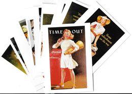 Publicité Lot N°8 De 10 Cartes-COCA-COLA ART Ou PUBLICITE Rétrospective 20/12/95-27/2/96 CARROUSEL Du LOUVRE *PRIX FIXE - Publicité