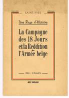 La Campagne De 18 Jours Et La Reddition De L'armee Belge - 1939-45