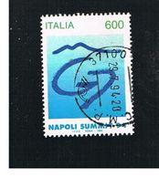 ITALIA REPUBBLICA  - UNIF. 2156   -   1994 G7 A NAPOLI    -            USATO - 6. 1946-.. Repubblica