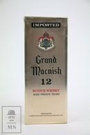 Empty Grand Macnish 12 Years Old Scotch Whisky Presentation Box - Otros