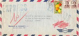 1967 Maroc Morocco Lettre Expres De Safi Voyagee Pour La France Envelope - Maroc (1956-...)