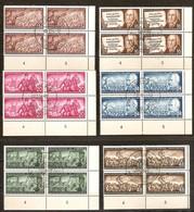 DDR 1953 Yvertn° 140-45 (°) Oblitéré Used Coin De 4 Séries Cote 24 Euro - [6] Democratic Republic
