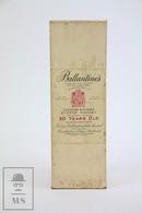 Empty Vintage 1960's Ballantine's 30 Years Old Scotch Whisky Presentation Box - Otras Colecciones