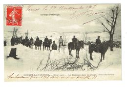 PUY DE DOME 63 VERNET LA VARENNE Hiver 1907 Le Traineau Dans Les Neiges - Autres Communes