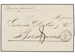 3 ARGENTINA. 1863. BUENOS AIRES A FRANCIA. Fechador Octogonal Marítimo Francés <B>CONF. ARGENTINE/SAINTONGE. </B>PRECIOS - Stamps