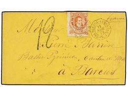 18 ARGENTINA. 1874. BUENOS AIRES A FRANCIA. <B>5 Cts.</B> Rojo, Fechador Octogonal Marítimo Francés <B>BUENOS AYRES/PAQ. - Stamps