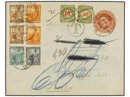 22 ARGENTINA. 1902. BUENOS AIRES A ZURICH (Suiza). Entero Postal De <B>5 Cts.</B> Rojo Con Franqueo Adicional De <B>1/2  - Stamps