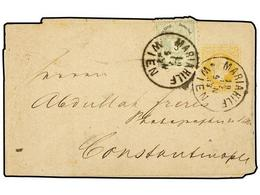 29 AUSTRIA. 1883 [Dec 19]. <B>2kr</B> Yellow Postal Stationery Newspaper Wrapper (1867 Design) Up-rated For Use To Const - Stamps