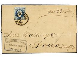 31 LEVANTE: CORREO AUSTRIACO. 1876 [June 10]. Entire Letter From Smyrna To IBIZA, Franked By Single 1876 <B>10s</B> Deep - Stamps