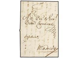 32 BELGICA. 1669 (22 Oct.). AMBERES A MADRID. Carta Completa. Manuscrito 'FapAnvs' (FRANCA PER ANVERS). MUY RARA. - Stamps