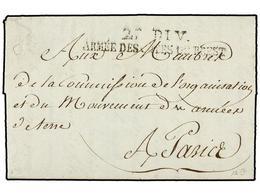 33 BELGICA. 1794 (26 Germinal). LAVAL A PARÍS. Marca<B> 2A. DIV./ARMEE DES COTES DE BREST.</B> MUY BONITA. - Stamps