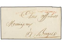 35 BELGICA. 1795. BRUXELLES A BRUGES. Carta Completa Con Precioso Encabezamiento Impreso. Marca De Franquicia <B>COmt. O - Stamps