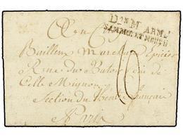 36 BELGICA. 1795. Au Camp D'EUDERNUK A PARIS. Carta Completa Con Marca <B>Don M ARM/SAMBRE ET MEUSE.</B> - Stamps