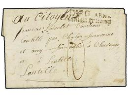 37 BELGICA. 1797. MITERNIQUE A FRANCIA. Carta Completa. Marca <B>Dº G ARM/SAMBRE ET MEUSE.</B> - Stamps