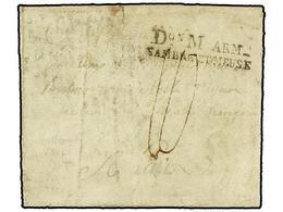 38 BELGICA. 1797. Du Comp De MULEMME A FRANCIA. Carta Completa Marca <B>Don M ARM./SAMBRE ET MEUSE.</B> - Stamps