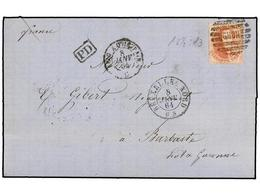 59 BELGICA. Of.16. 1864. BRUXELLES To FRANCE. Entire Letter Franked With <B>40 Cts.</B> Red Stamp Tied By <B>NORD </B>gr - Stamps