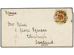 98 BELGICA. Of.28. 1872. BRUXELLES To EDIMBURG (Scotland). Entire Letter Franked With <B>5 Cts.</B> Ocre Stamp. <B>PRINT - Stamps
