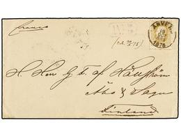 119 BELGICA. Of.32. 1875. ANVERS To FINLAND. Envelope Franked With <B>25 Cts.</B> Ocre Stamp. Arrival On Reverse. - Stamps