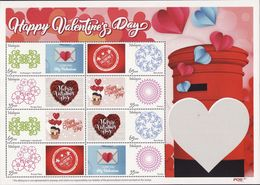 Malaysia 2018 Happy Valentine's Day Personalized Stamp MNH Love Heart Postal Post Box - Malaysia (1964-...)