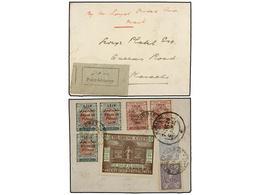 932 IRAN. Mi.523 (2), 526 (3), 535 (2). 1928. BENCER-ABBAS To KARACHI (Pakistan). Endorsed 'By The Royal Qitah Air Mail' - Stamps