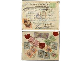 942 IRAN. Mi.544, 546, 547 (3), 551 (2), 553 (3), 534, 536. 1928 (9-IX). TEHERAN To LONDON. <B>AIR MAIL</B> Cover, Colou - Stamps
