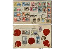 955 IRAN. Mi.571, 572 (3), 574, 581 (2), 582/84, 586, 589, 597/99, 601/02, 607/09, 610 (2). 1930 (13-XI). TEHERAN To BAT - Stamps
