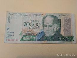 20000 Bolivares 1998 - Venezuela