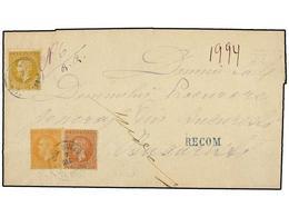 1161 RUMANIA. Mi.38, 40, 41. 1876. BUZEU To BUCAREST. <B>5 Bani</B> Bistre, <B>15 Bani</B> Redbrown And <B>25 Bani </B>o - Stamps