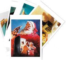 Publicité Lot N°9 De 5 Cartes-COCA-COLA ART Ou PUBLICITE Rétrospective 20/12/95-27/2/96 CARROUSEL Du LOUVRE ( Père Noël - Publicité