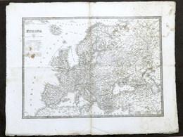 Antica Carta Geografica - Europa - 1832 - Altre Collezioni